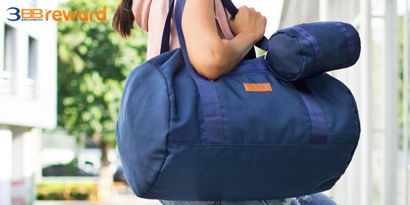 กระเป๋าพับได้แม่ลูก ใช้ได้แบบ 2 in 1 ทั้งใบเล็กและใบใหญ่