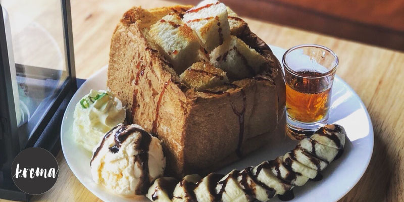 แลกซื้อ Honey Toast ในราคา 79 บาท (จาก 159 บาท) เมื่อสั่งเครื่องดื่ม 3 แก้วขึ้นไป ที่ Krema Cafe จ.พิษณุโลก