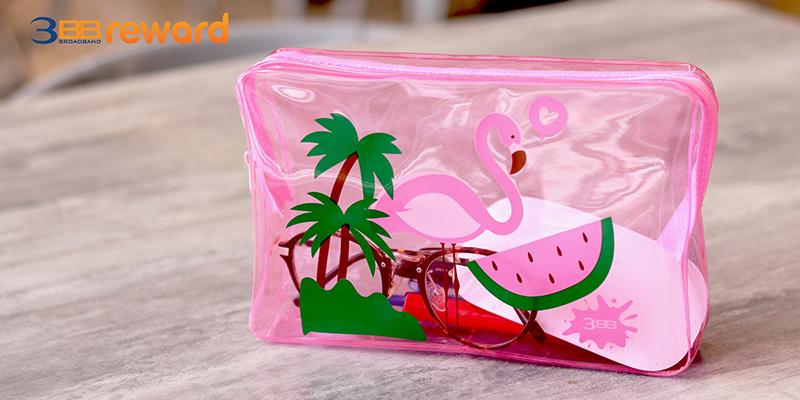 กระเป๋าพลาสติกใส Flamingo