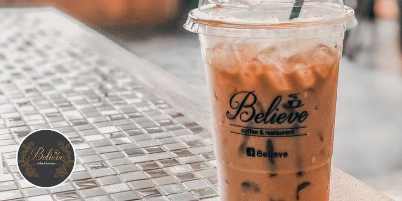 ส่วนลด 5% เมื่อซื้อครบ 500 บาท ที่ Believe Coffee & Restaurant จ.อุบลราชธานี