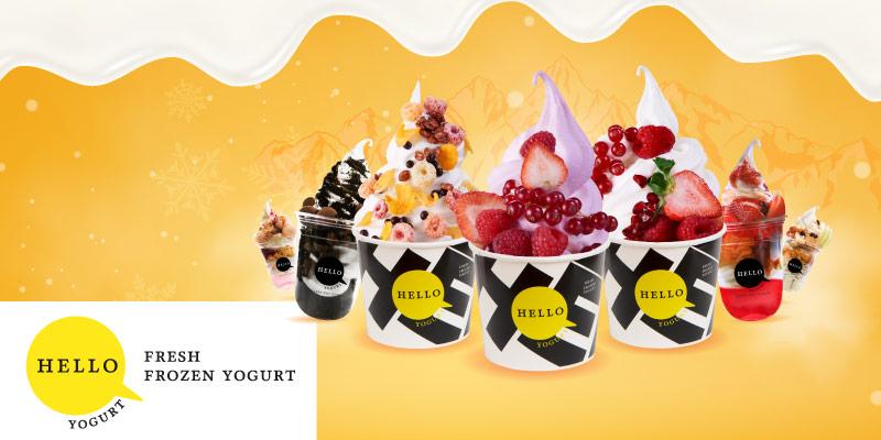 ส่วนลด 20% เมื่อซื้อ Hello Yogurt size L และ Parfait