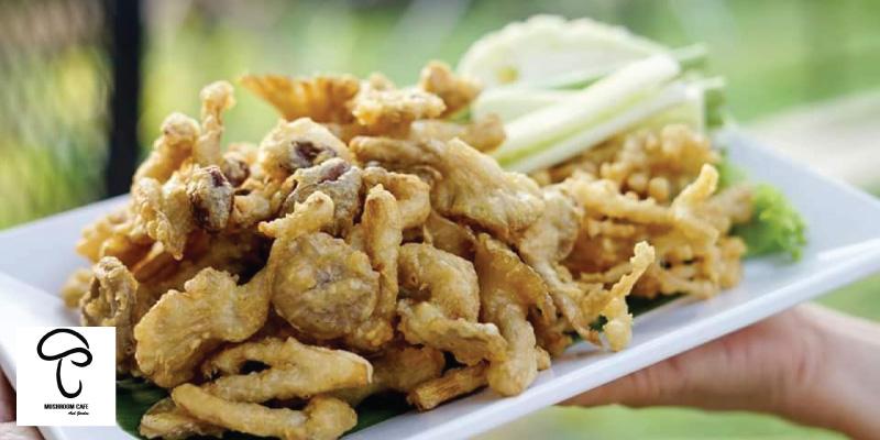 เมนูเห็ดทอด เพียง 99 บาท (จากราคาปกติ 169 บาท) ที่ Mushroom cafe จ.ชลบุรี